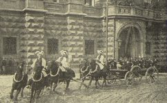 Černínská kasárna, přehlídka před F. Josefem, 3.10.1904. - Český svět 5.10.1904