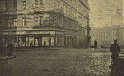 knihkupectví na rohu Táborské ulice. - Český svět 24.11.1904