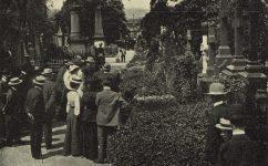 angličtí hosté u hrobu A. Dvořáka. -  Český svět 20.6.1905