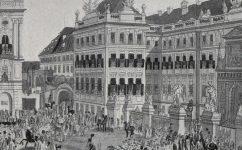 Průvod při stoletém Jubileu svatořečení. - Český svět 22.4.1909