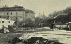 Dvorek ve Vlašské ulici - Světozor 16.02.1913