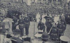 Hasičský dům, položení základního kamene - Český svět 07.10.1926