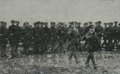 vojenská slavnost, defilé před Masarykem, legionáři z Ruska - Český svět 24.04.1919