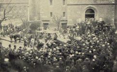 Kostel sv. Štěpána, pohřeb L. Píče. - Světozor 05.01.1913