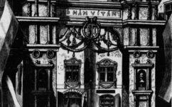slavobrána při příjezdu císaře - Světozor 20.11.1874