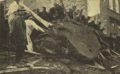 Roh Poříčí a Biskupské ulice, stavební katastrofa - Český svět 18.10.1928