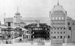 Soutěžní návrh Čenského - Divadelní architektura