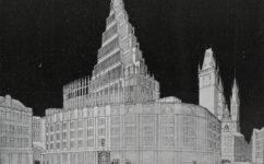 Gočárův projekt radnice - Český svět 02.09.1910