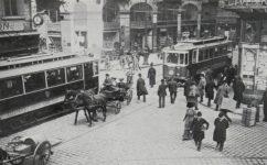křižovatka u Perštýna - Český svět 28.10.1910