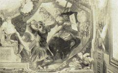 Stropní freska Archimédes -  Světozor 14.01.1910