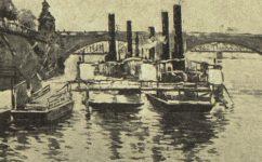 přístaviště u Palackého mostu -  Český svět 17.03.1921