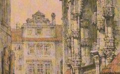 1820 kresba Samuel Prout - Praha očima staletí (1984)