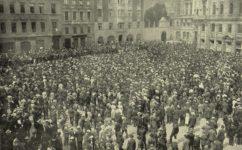 manifestace proti drahotě - Světozor 23.07.1909