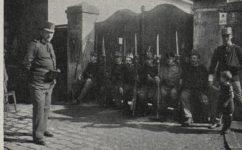 Hlídka u železničního mostu - Světozor 09.10.1914