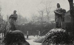 Na slupech 1484, Brokofova socha v zahradě domu - Světozor 27.02.1914