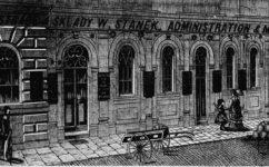 Vladislavova ul. Staňkův obchod - Světozor  21.12.1883