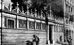 zeď zahrady měšťanské besedy - Světozor 29.6.1888