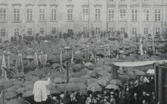 ze sjezdu katolíků, pan Jemelka řeční -  Český svět 4.9.1908