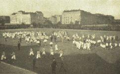 letenské hřiště Slavie - Světozor 18.09.1908
