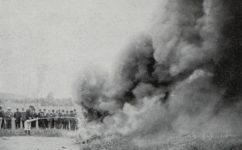 Zkoušení hasícího přístoje -  Český svět 14.06.1907