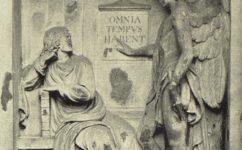 reliéf na památníku v parku - Český svět 22.9.1905